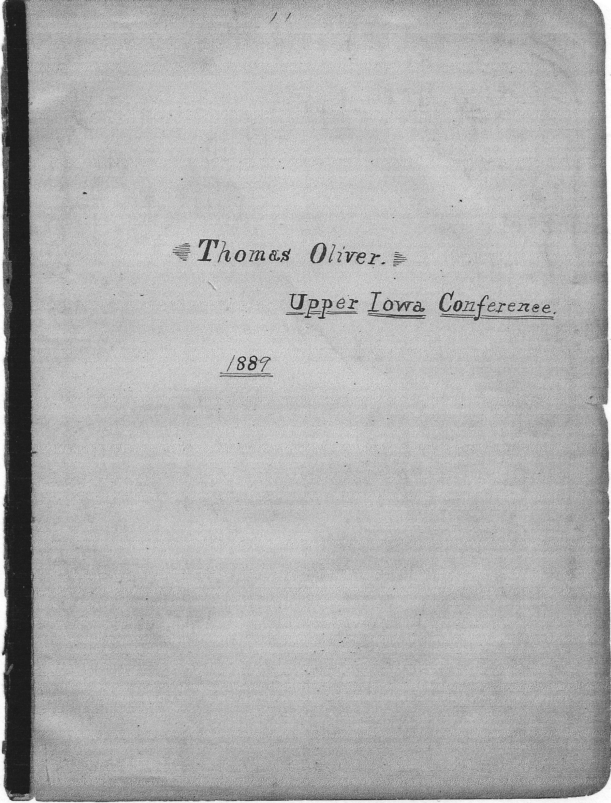 Thomas Oliver's bible